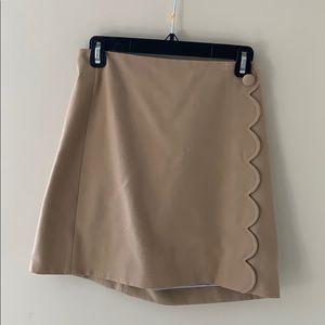 J. Crew Camel Mini Skirt